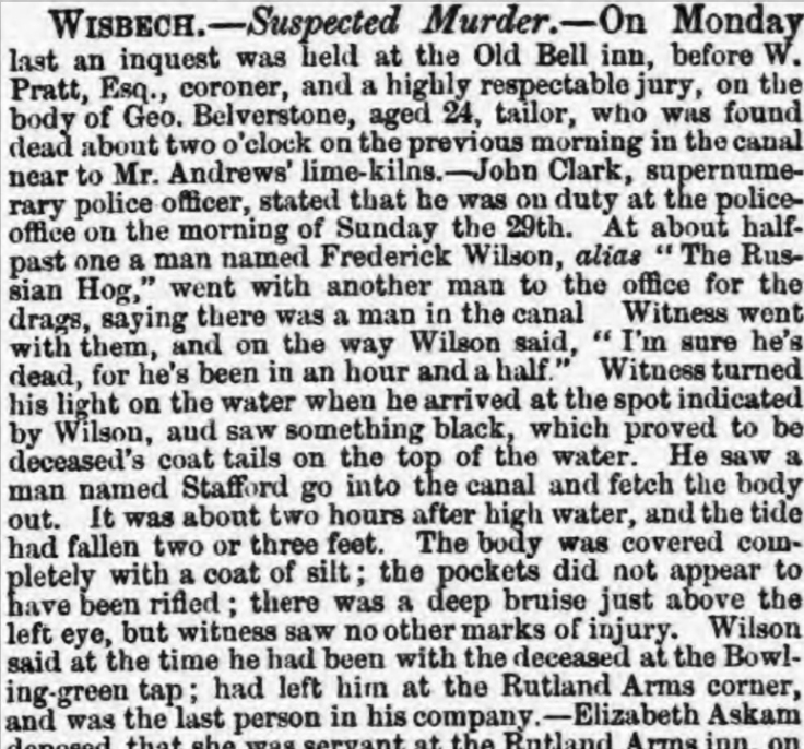 Suspected murder