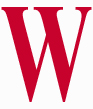 W red