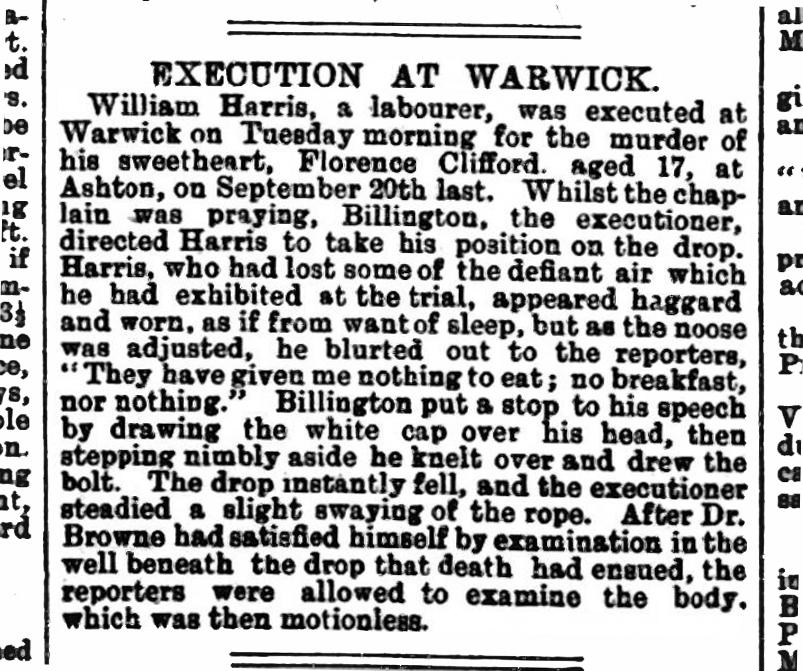 Harris execution
